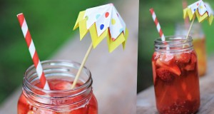 Easy-Healthy-iced-tea-with-paper-umbrella-DIY