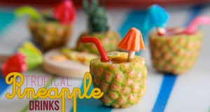 Tropical-Pineapple-Fruit-Drinks-How-To-Make-a-Pineapple-Cane-with-Polymer-Clay