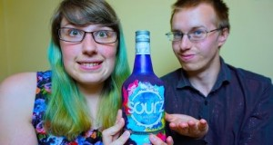 New Sourz Rainbow Ice alcoholic Drink Tasting Review | AspectReviews
