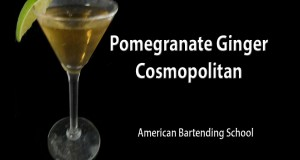 Pomegranate Ginger Cosmopolitan Cocktail Drink Recipe