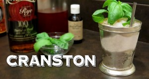The Cranston – A Remix of the Mint Julep Cocktail with Rye Whisky & Basil from Summit Sips